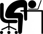 passed out with head on top of computer keyboard