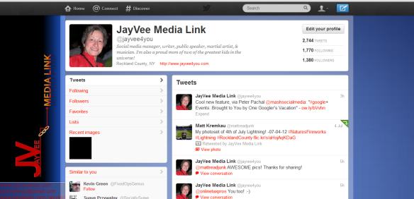 Twitter branding example JayVee Media Link