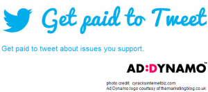 Ad Dynamo Get Paid to Tweet service logo