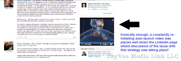 auto launch video on LinkedIn discussion page