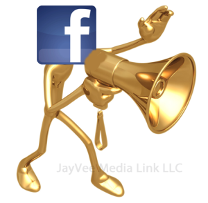 Facebook figure with megaphone