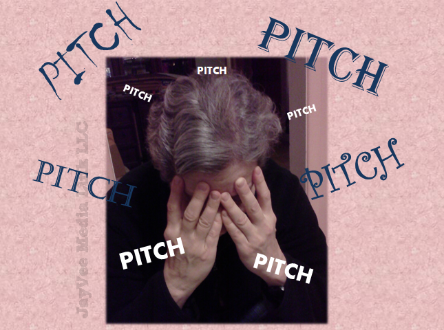pitches surrounding miserable person