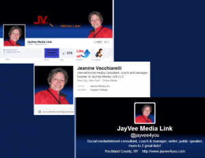 JayVee Media Link LLC branded background screen shots