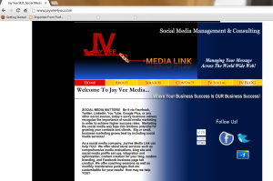 JayVee Media Link LLC website screen shot