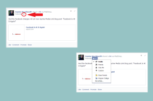 Facebook post privacy settings