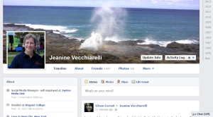 Facebook new Timeline format screen shot