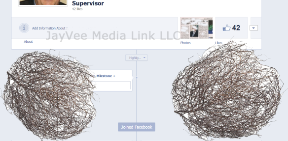 Unused Facebook business page with tumbleweeds blowing across it