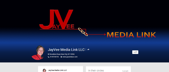 Google Plus JayVee Media Link business page