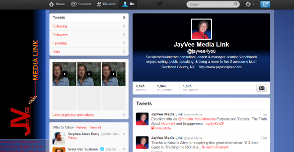 JayVee Media Link Twitter profile screen shot