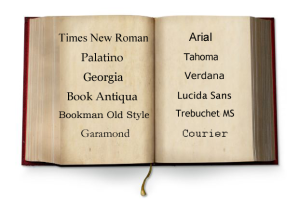 font styles in book