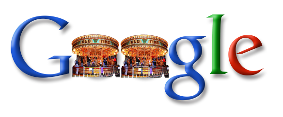 Google logo with carousels for Os