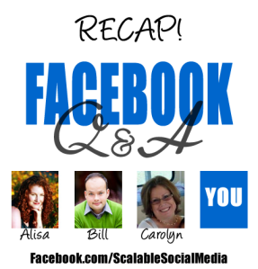 Facebook business chat recap example
