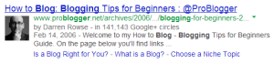 Google authorship screen shot