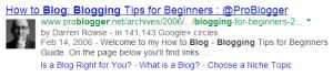 Google authorship screen shot