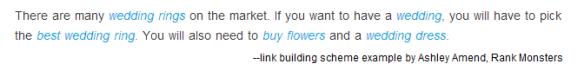 Google link building scheme screen shot